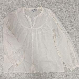 Madewell Textured Long Sleeve Blouse